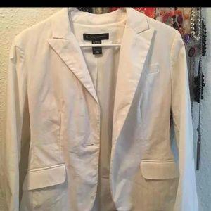 Sz 6 New York & Company White Blazer